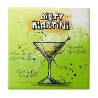Schmutziger Martini - Cocktail-Geschenk Keramikfliese