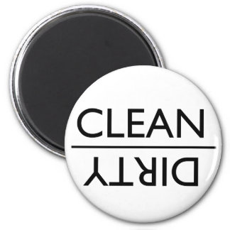 Schmutziger oder sauberer Spülmaschinen-Magnet (ne Magnete