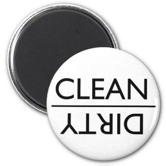 Schmutziger oder sauberer Spülmaschinen-Magnet (ne Runder Magnet 5,7 Cm