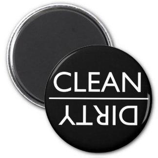 Schmutziger oder sauberer Spülmaschinen-Magnet (Sc Runder Magnet 5,1 Cm