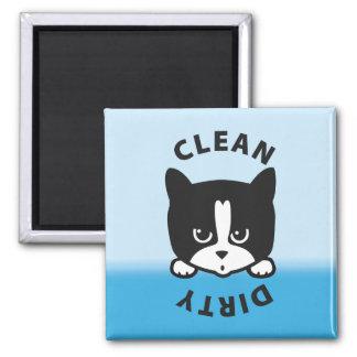Schmutziger sauberer Spülmaschinen-Magnet - niedli Quadratischer Magnet