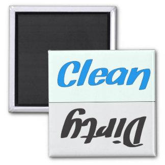 Schmutziger sauberer Spülmaschinen-Magnet Quadratischer Magnet