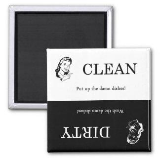 Schmutziger/sauberer Spülmaschinen-Magnet Quadratischer Magnet