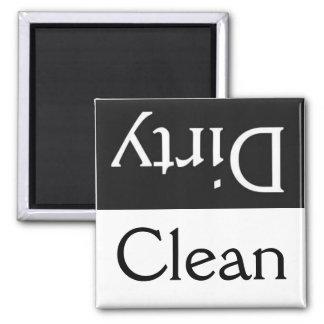 Schmutziger sauberer Spülmaschinenmagnet Magnete