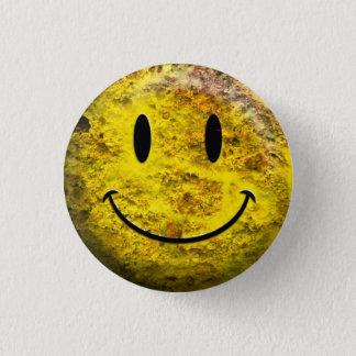 Schmutziger Smiley-Typextraknopf Runder Button 3,2 Cm