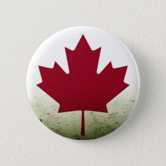 Schmutziges Ahornblatt Runder Button 5,1 Cm