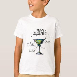 Schmutziges Martini-Cocktail-Rezept T-Shirt