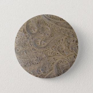 Schmutziges Paisley Runder Button 5,1 Cm