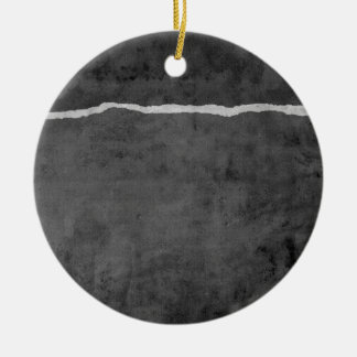 Schmutziges zerrissenes Papier Rundes Keramik Ornament