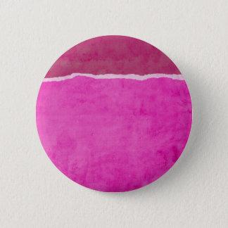 Schmutziges zerrissenes rosa Papier Runder Button 5,1 Cm