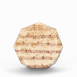 Schmutzklavier merkt Musikblatt Auszeichnung