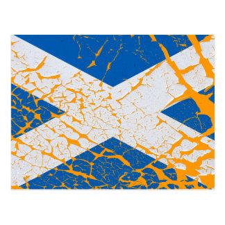 Schmutzscottish-Flagge Postkarte
