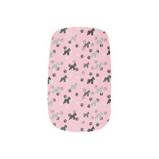 Schnauzer-Finger-Nagel-Kunst Minx Nagelkunst