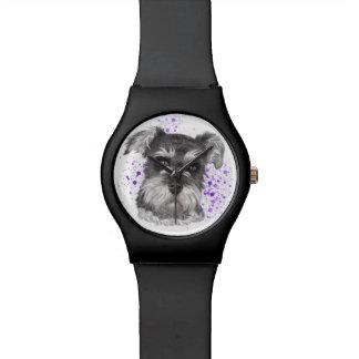 Schnauzer-Hundezeichnen Armbanduhr