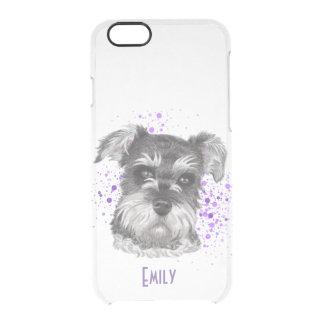 Schnauzer-Hundezeichnen Durchsichtige iPhone 6/6S Hülle