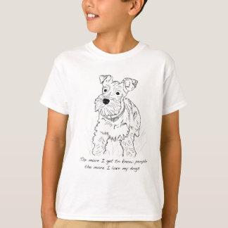 Schnauzer mehr i-Liebe meine Hunde T-Shirt