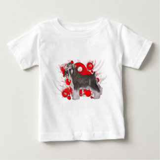Schnauzer mit roten Kreisen Baby T-shirt