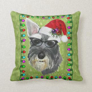 Schnauzer-WeihnachtsWurfs-Kissen Kissen