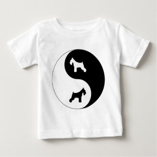 Schnauzer Yin Yang Baby T-shirt