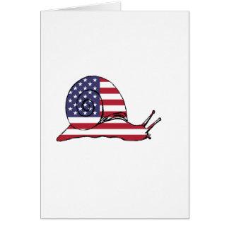 """Schnecke """"amerikanische Flagge """" Grußkarte"""