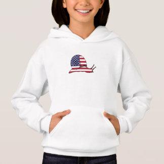 """Schnecke """"amerikanische Flagge """" Hoodie"""