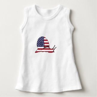 """Schnecke """"amerikanische Flagge """" Kleid"""
