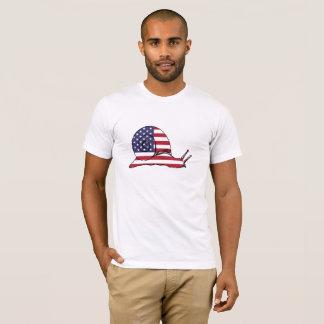 """Schnecke """"amerikanische Flagge """" T-Shirt"""