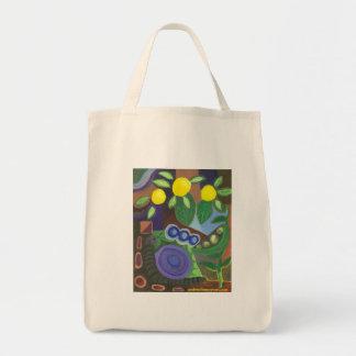 Schnecke-, Erbsen-u. Zitronen-Markt-Tasche Einkaufstasche