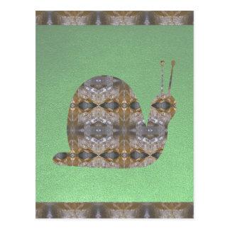 SCHNECKE-Insekt gemacht vom Kristallstein Postkarte