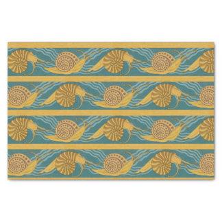 Schnecke-Muster-Druck-Schnecke-blaues gelbes Seidenpapier