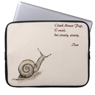 Schnecke ursprüngliches Pastellzenzeichnen Laptop Sleeve Schutzhülle