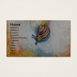 Schnecke Visitenkarte