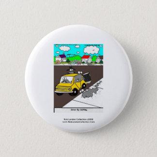 Schnecken-/Schnecke-Qualitäts-lustiger Runder Button 5,7 Cm