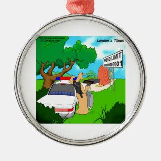 Schnecken-Verkehrs-Polizist lustig Silbernes Ornament