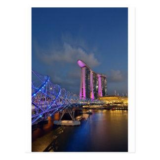 Schneckenbrücke und -jachthafen-Bucht-Sande Postkarte