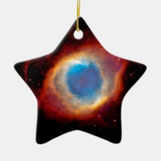 Schneckenplanetarischer Nebelfleck NGC 7293 - Auge Keramik Stern-Ornament