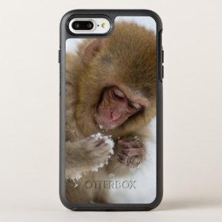 Schnee-Affe Babyjapanischer Macaque-| OtterBox Symmetry iPhone 8 Plus/7 Plus Hülle