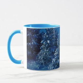 Schnee-Bäume Tasse