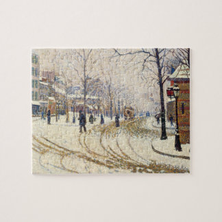 Schnee, Boulevard de Clichy, Paris durch Paul Puzzle