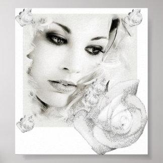 Schnee-Braut Posterdruck