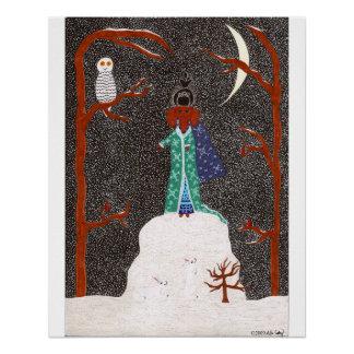 Schnee-Dackel Poster