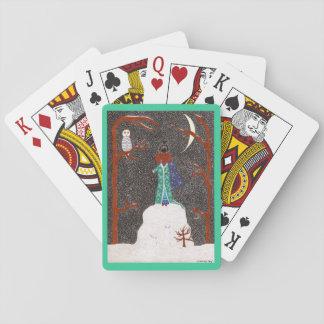 Schnee-Dackel Spielkarten