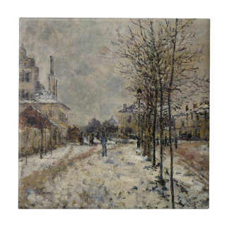 Schnee-Effekt, der Boulevard de Pontoise bei Fliese
