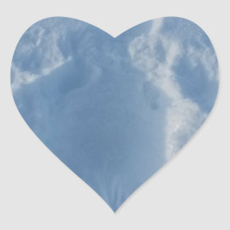 Schnee-Engel Herz-Aufkleber