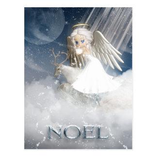 Schnee-Engels-Postkarte - WEIHNACHTEN