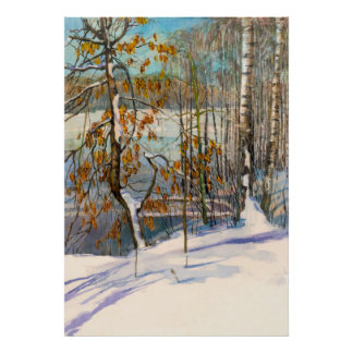 Schnee fiel poster
