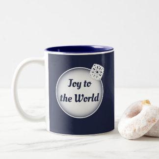 Schnee-Freude zur Foto-Tasse der Welt| Zweifarbige Tasse