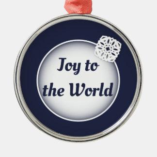 Schnee-Freude zur Verzierung der Welt| Silbernes Ornament