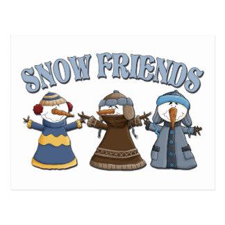 Schnee-Freund-Schneemänner Postkarte