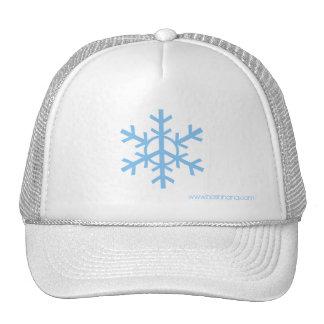 Schnee-Friedensfernlastfahrer-Hut - hellblaues Log Retrokult Cap